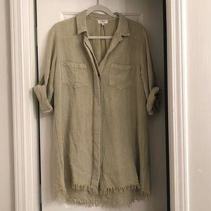 Umgee Dresses - Green Boyfriend Tshirt Dress